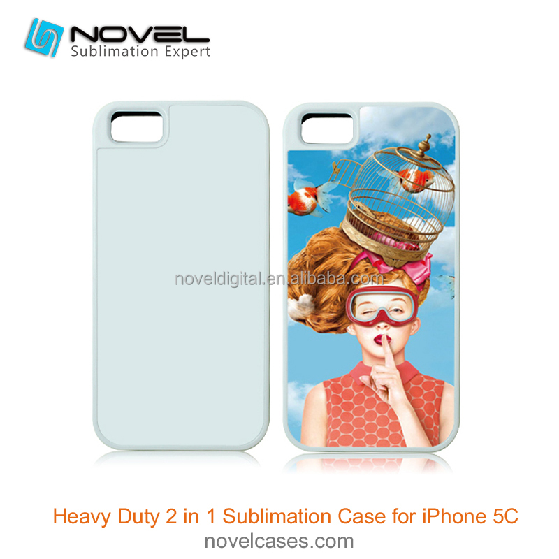 Protective sublimation 2in1 mobile phone case for iPhone5C