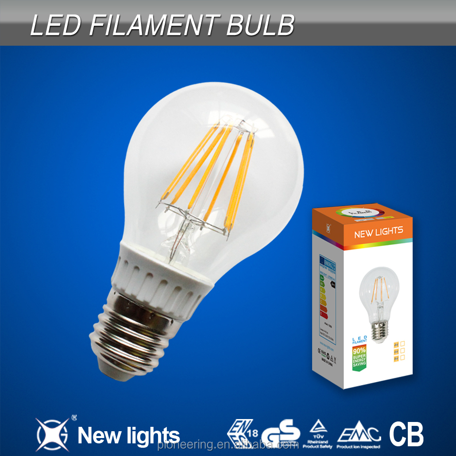 GLS A60 E27 4W 6W 8W Ideal 60W Replacement Led Filament bulb