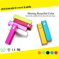 2600 mAh External 18650 Battery USB Portable Charger Square Pipe Power Bank, mini portable mobile power bank