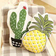 SZPLH Decorative Different Fruit Shape Baby Polyester Cushion With The Similar Printing
