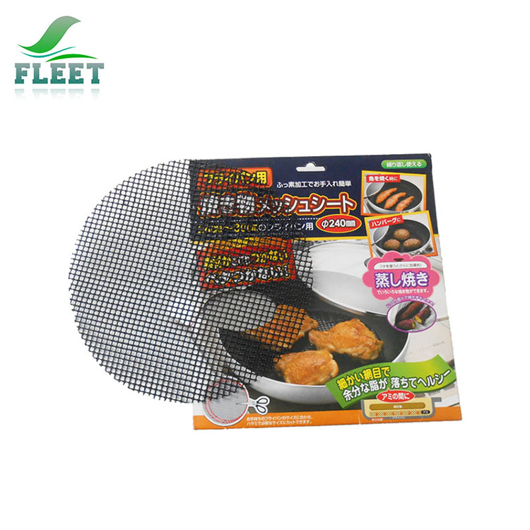 Heat resistant outdoor kitchen cooking tools PTFE non-stick BBQ grill mesh mat