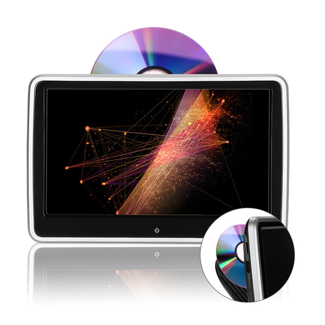 "10.1"" HD Digital TFT Screen Ultra-thin Design Touch Button Car Headrest DVD Player with HDMI Port"
