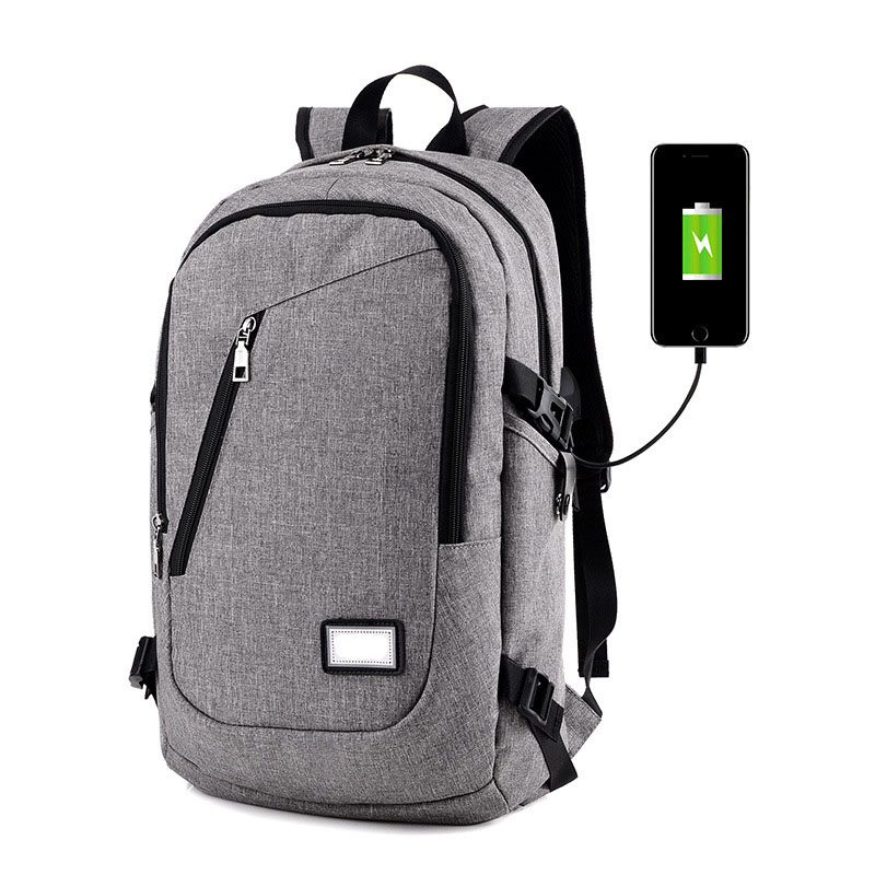 Outdoor business travel men women computer anti theft outer USB charging laptop hiking backpack