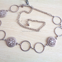 Ladies Garment Fashion Bling Metal Chain