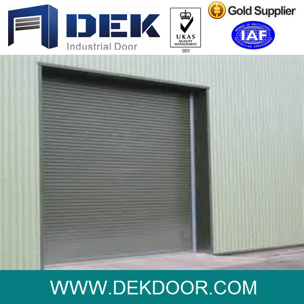 Manual galvanized steel plate roller shutter door
