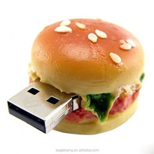 Cute Hamburger model pen drive 8GB USB 2.0 Memory Stick USB food shape