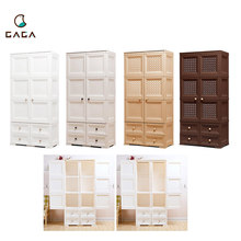 High Quality Kids Portable Bedroom Plastic Storage Clothes Wardrobe