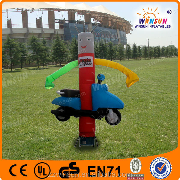 EN71 approved inflatable mini air dancer with moto
