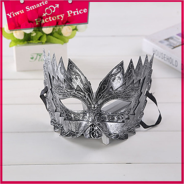 2016 sale party mask, metal mask, masquerade masks bulk Fashion & Popular mini plastic gold face mask for men