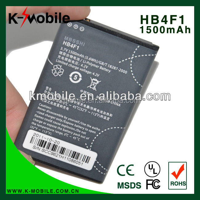 For Huawei U8220 U8230 U9120 E5830 M860 Ascend HB4F1 Cellphone Battery HB4F1 1500mAh