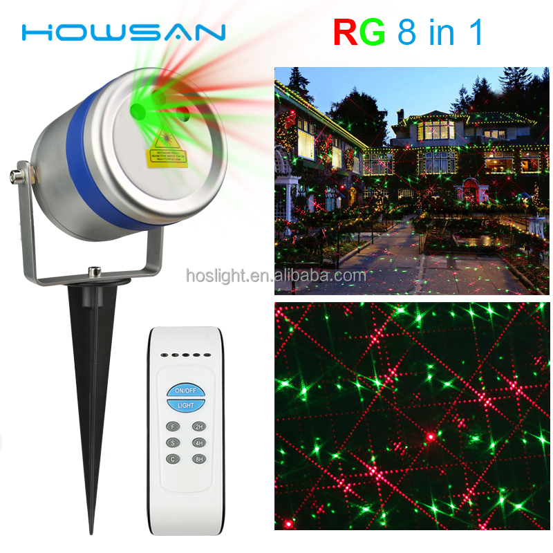 waterproof red and green dots garden laser outdoor laser projector christmas laser lights for sale