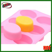 8-Cavity Oval Silicone Mold for Soap, Cake, Bread, Cupcake, Cheesecake, Cornbread, Muffin, Brownie, and More
