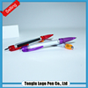 Factory price advertising pen,multifunction plastic stationery pull out banner pen