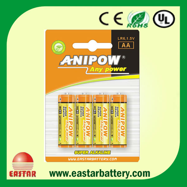 Made in China1.5v aa alkaline battery lr6 OEM brand