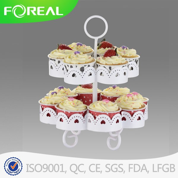 2 layer 14 cups cake stand /cake cups holder