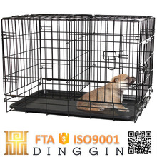 Double metal dog kennel cage