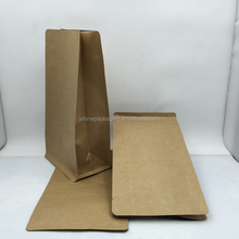 stand up kraft paper coffee bag with block bottom