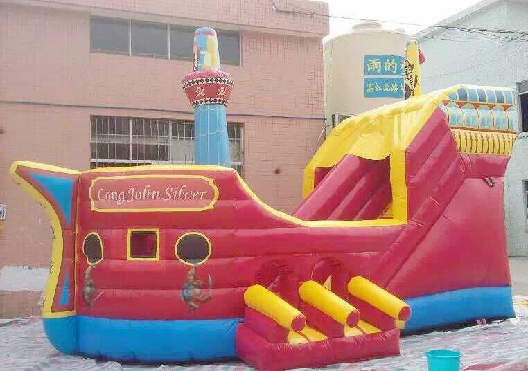 2016 hot giant pirate ship inflatable bouncer