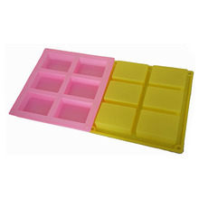 Colorful handmade 3D silicone soap making molds