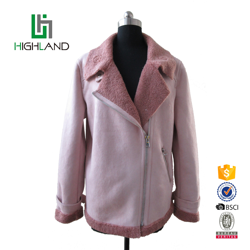 New design popular whoesale customized loose wool coat women jacket