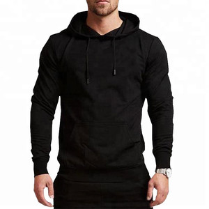Hot Sale Blank Cheap Custom Sweatshirt No Minimum Sports Gym Pullover Hoodies For Men