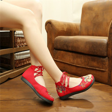 Beijing cloth shoes embroidery national wind xiangyang flower women's shoes lace leisure embroidered shoes