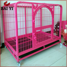 Wholesale Durable Lowes Large Steel Cheap Chain Link Dog Kennels And Dog Cage With Wheels