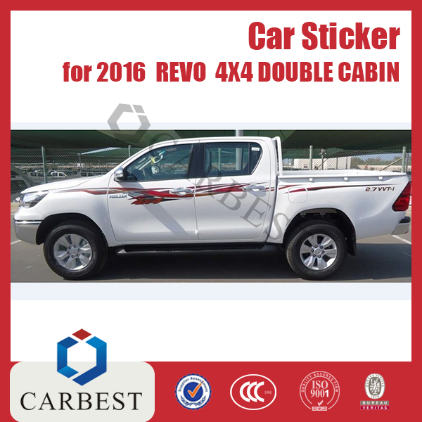 High Quality Auto 4X4 Double Cabin Sticker Accessories Toyota Hilux 2015