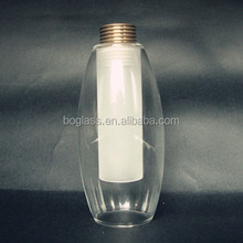 Pyrex glass bulb with frosted inside, pyrex glass bulb with screw inside for lighting use