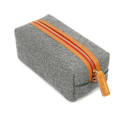 Wholesale Collection Woolern Felt Travel Cosmetic Bag Storage Purse Pouch.