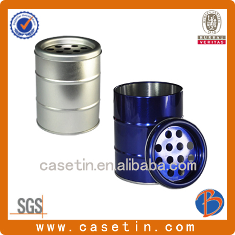 New Hot sale Round metal tin box for cigarette ash