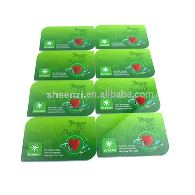 2017 Newest high technology energy saving card,negative ion nano energy saver card for saving electric cost
