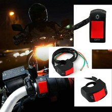 "motorcycle fog light switch 7/8"" handlebar ON/OFF button bullet connector 12v DC electrical system Hot Selling*~"