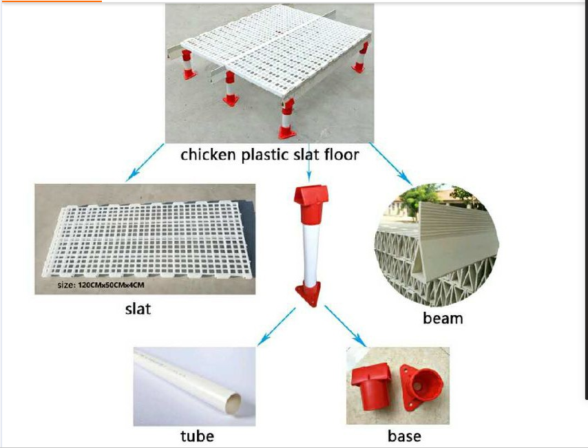 high quality poultry plastic slat floor for broiler farm