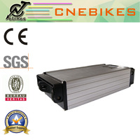high capacity Li-polymer e bike battery with luggage carrier