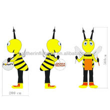 2M Bee Inflatable Cartoon for Advertising
