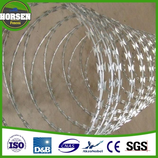 china manufacturer promotional BTO22 long life cheap concertina razor barbed wire