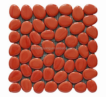 Red glass stone mosaic tile for wall art murals GN005
