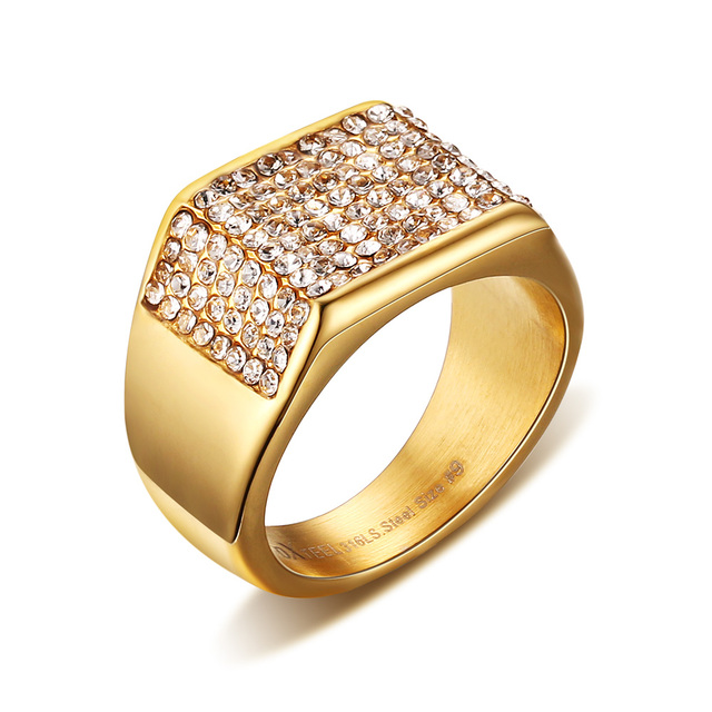 Fashion jewelry supplies, enchase diamond man ring, ring wholesale YSS551