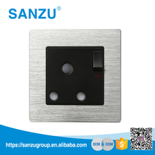 Electrical Accessories Wall Switch Socket, Steel panel 15 amp wall socket price