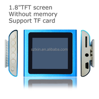 "Factory price 1.8""TFT screen mp4 digital player user manual With FM stereo radio"