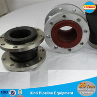 Flexible single ball rubber joint for pipes, pumps and valves