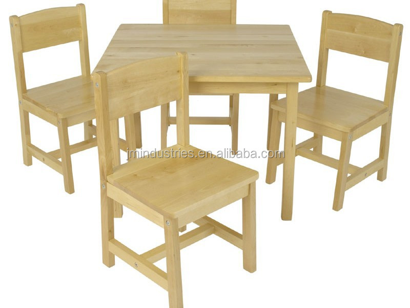 wooden children desk and chairs kids reading table