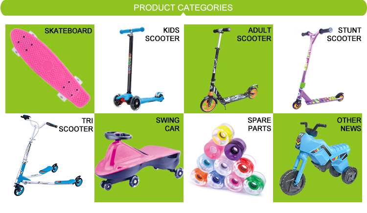 120mm PU front Wheel custom kids kick scooters