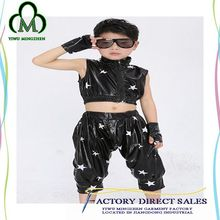 Popular design Childern Clothing black with white star dance clothing for sale