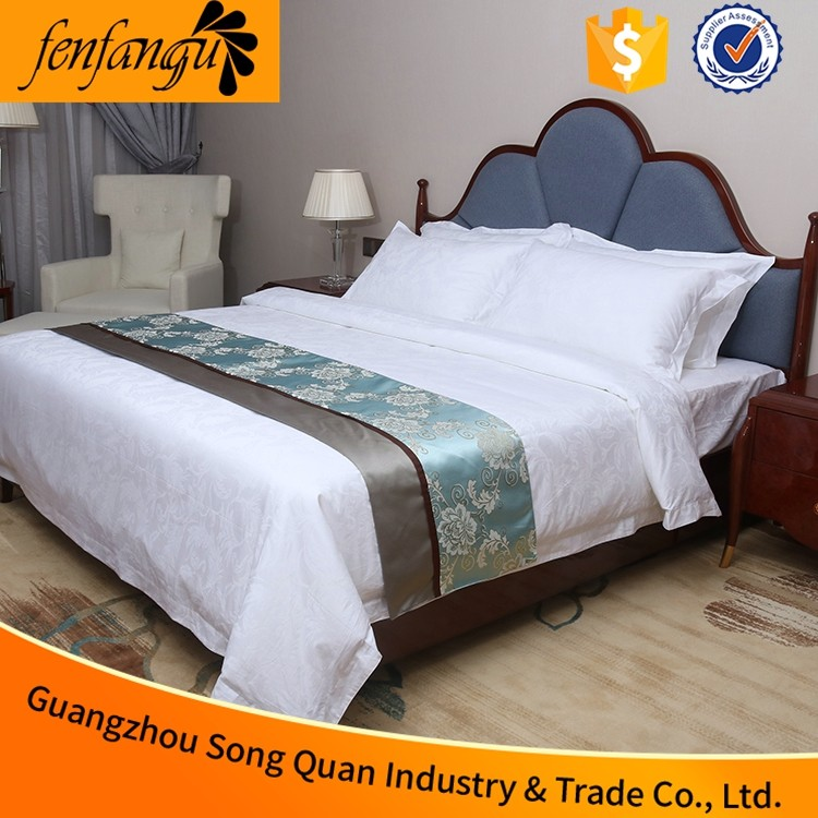 Wholesale hotel used bedsheet bedding set with extra wide fabric from China factory