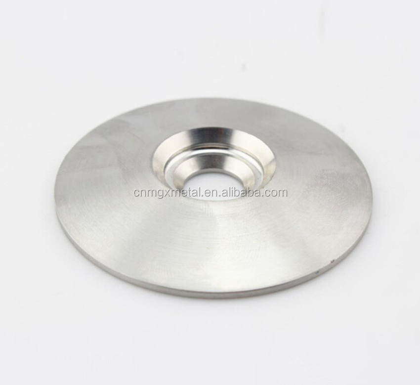 High Quality Customized Polished Stainless Steel CNC Machined Round Cover Plate