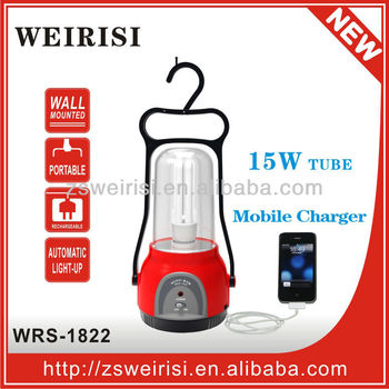 Rechargeable Camping Lamp with Mobile Charge Function (WRS-1822)