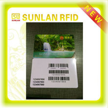 Both side printing Barcode RFID LF HF UHF rewritable chip card read and write card chip(0.65Acre Stardand)