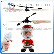 Mini Qute RC remote control flying Christmas Xmas Santa Claus gift cartoon model plastic doll kids Electronic toys NO.HY838A-2